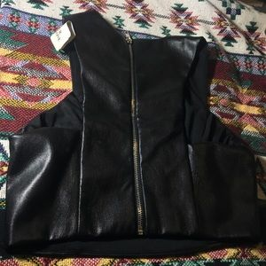 Forever 21 Faux Leather Top